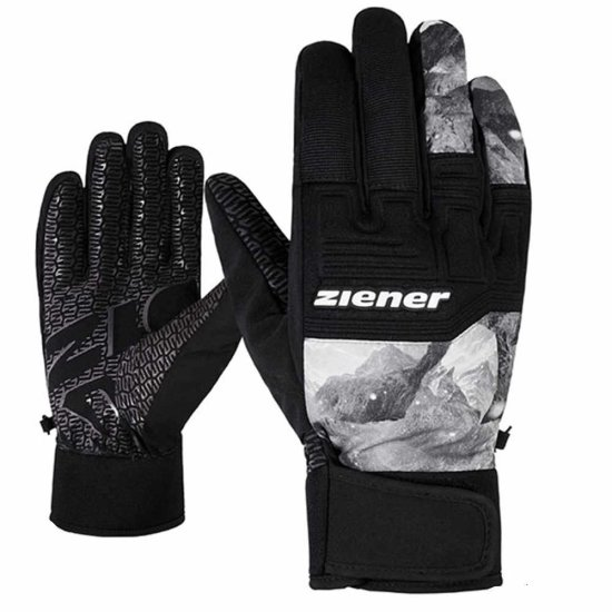 Ziener GARIM AS Handschuhe grey mountain print 10