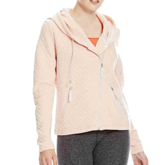 Bench Quilted Zip Through - coral pink marl M