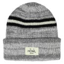 Howl Stripe beanie - heather chocolate