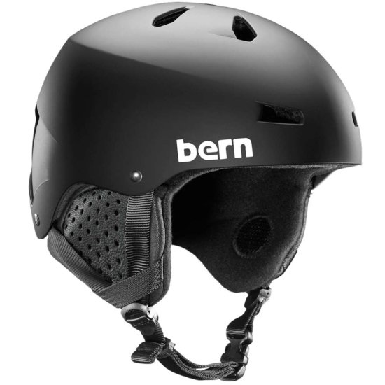 Bern Macon thin shell (MIPS) Snowhelm - black L
