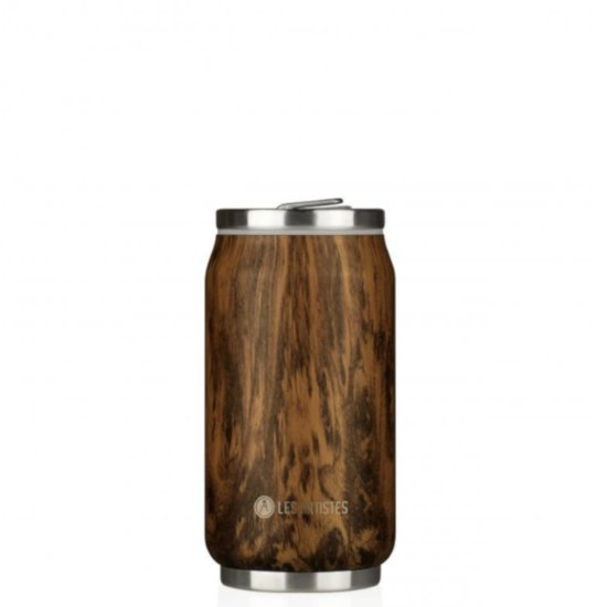 Les Artistes Pull Can'it 280 ml Trinkflasche - wood