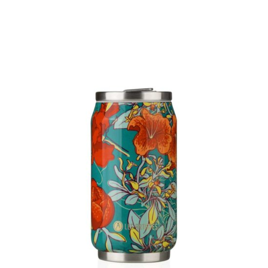 Les Artistes Pull Can'it 280 ml Trinkflasche - peonies