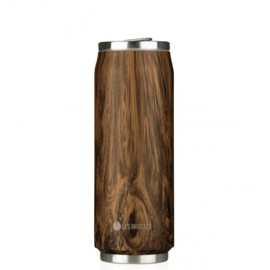 Les Artistes Pull Can'it 500 ml Trinkflasche - wood