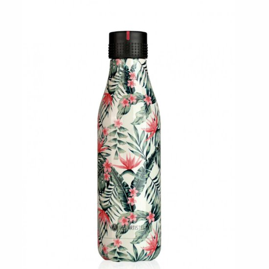 Les Artistes Bottle'Up 500 ml Trinkflasche - palm trees