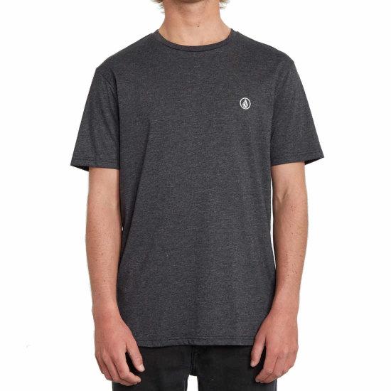 Volcom Circle Blanks HTH SS T-Shirt - heather black L