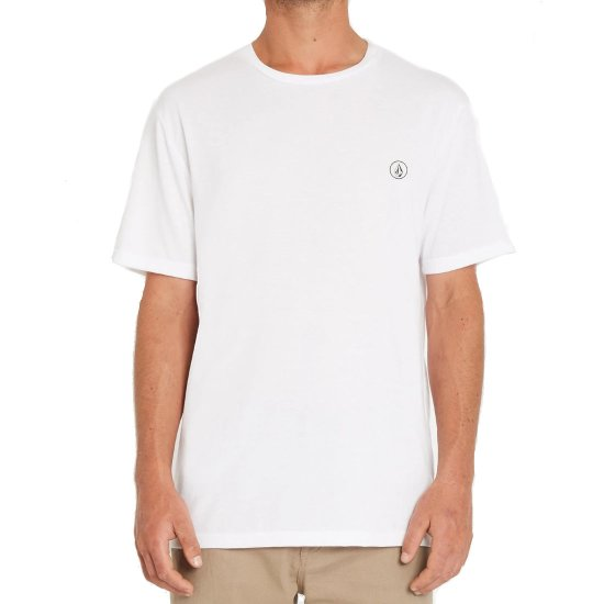 Volcom Circle Blanks HTH SS T-Shirt - white