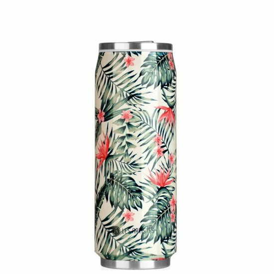 Les Artistes Pull Can'it 500 ml Trinkflasche - palm trees