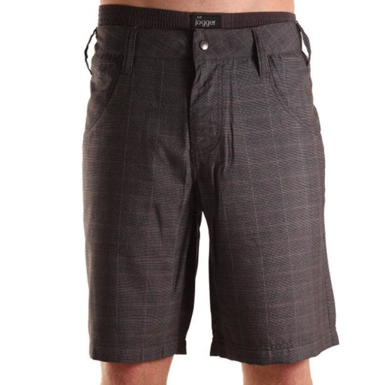 Light Temple Walkshort Check dark gray 28