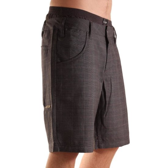Light Temple Walkshort Check dark gray 32