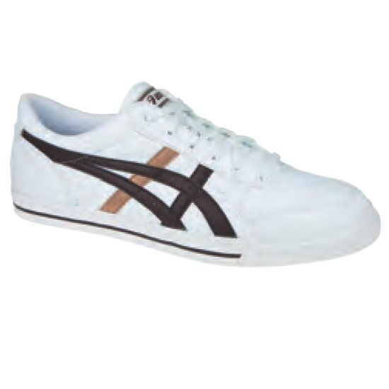 Asics Aaron Sneaker white/ dark brown 36