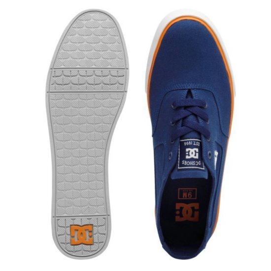 DC shoes Flash TX Sneaker navy/ orange 40 1/2