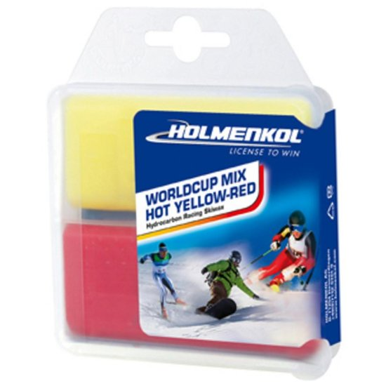 Holmenkol Wax Worldcupmix yellow/ red