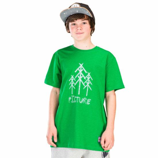 Picture Organic Draw Tshirt - green 12
