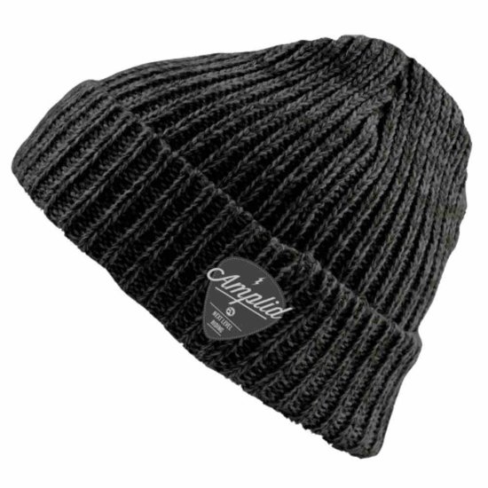 Amplid Roadie knitted Beanie - true black