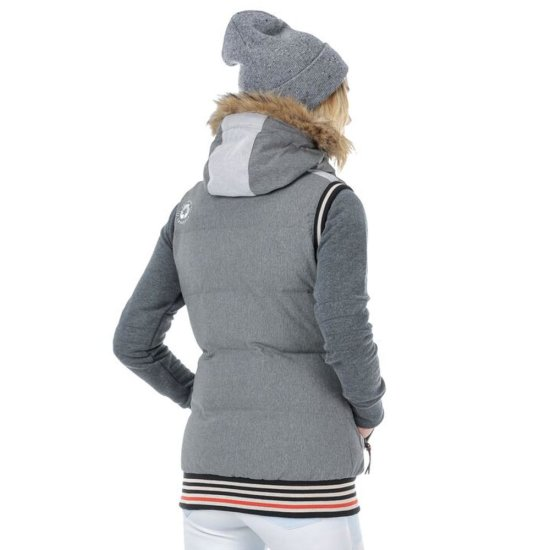 Picture Holly 3 Weste - grey melange/grey S
