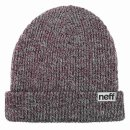 Neff Fold Heather Beanie - port/ white