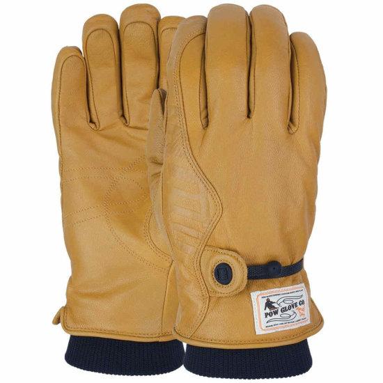 POW HD gloves Lederhandschuhe - natural L