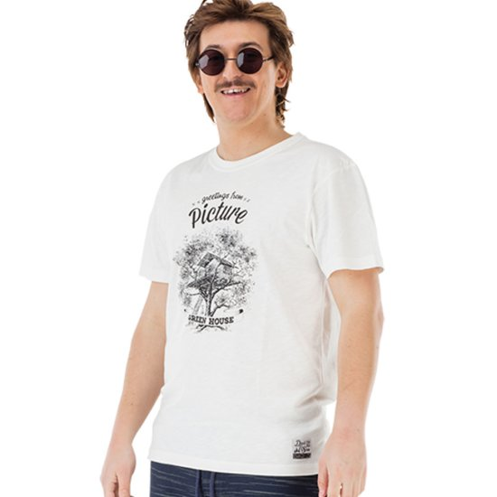 Picture Dad & Son Greenhouse Tshirt - white S