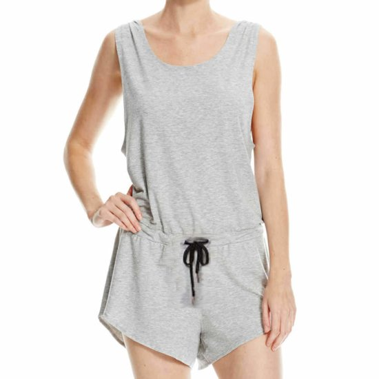 Bench Straight Playsuit - grey marl