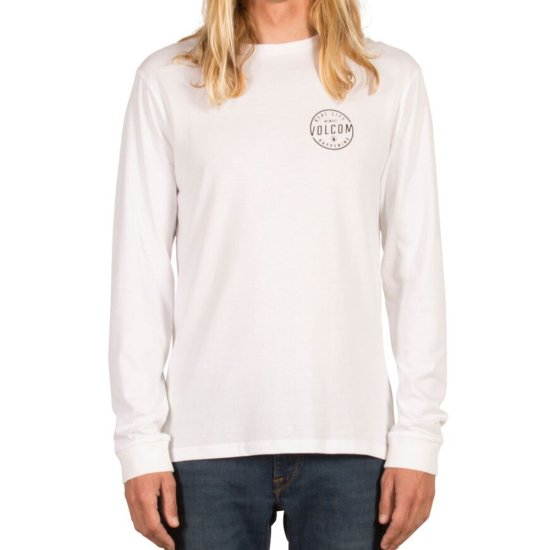 Volcom On Lock Basic Longsleeve - white M