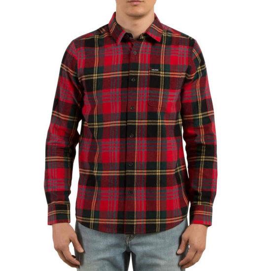 Volcom Caden LS Hemd - true red