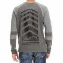 Bench Henley Waffle Jersey Longsleeve - dark grey M