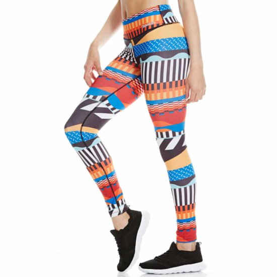 Bench Bold Stripe AOP Leggins - royal blue