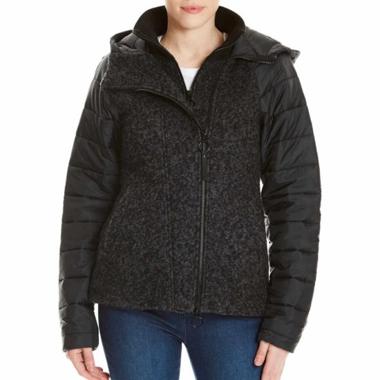 Bench Asymmetric Wool Nylon Jacke - black