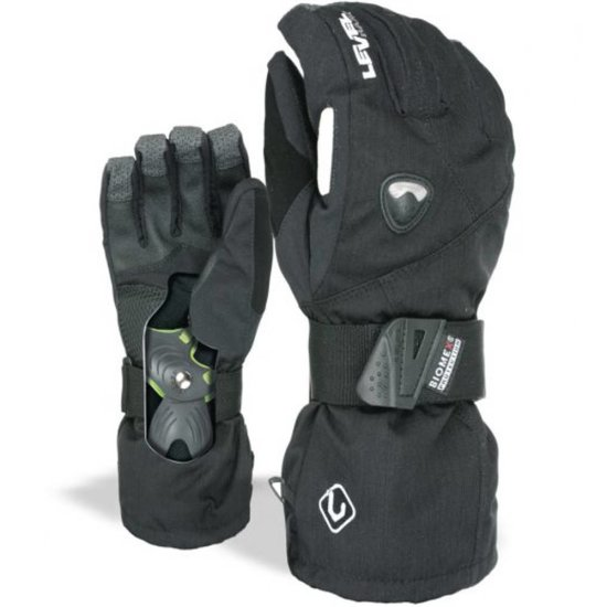 Level Clicker Snowboardhandschuh - black 9 1/2
