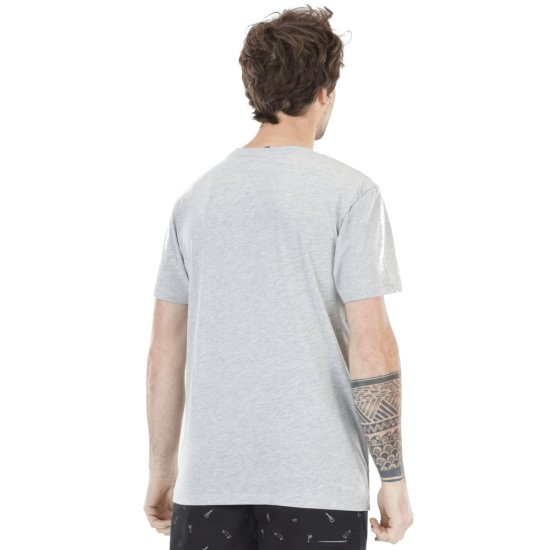 Picture Basement Palm Tshirt - grey melange