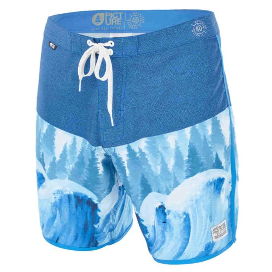 Picture Andy 17 Boardshort - wave & tree