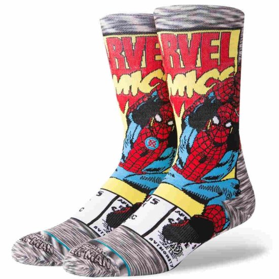 Stance Spiderman Comic Socken - grey