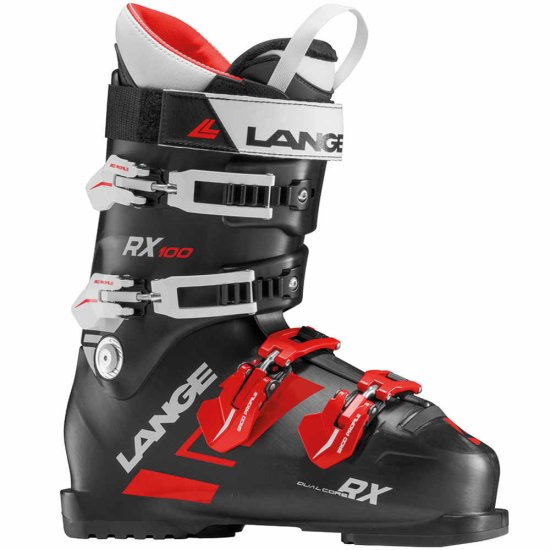 Lange RX 100 Skischuh - black red